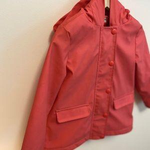 Joe Fresh 4T rain coat.Fleece lined w/salmon color